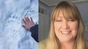Shannon Stevensové se do pozadí zakousl medvěd černý.
