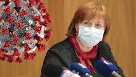Jarmila Rážová, hlavní hygienička na tiskovce ministerstva zdravotnictví (13. 11. 2020)