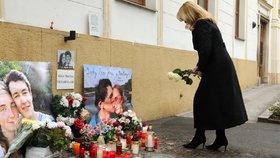 Slovenská prezidentka Zuzana Čaputová uctila památku zavražděného novináře Jána Kuciaka a jeho snoubenky (21.2.2021)