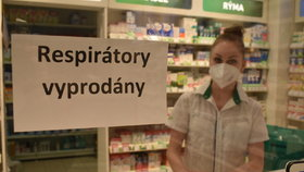 Ostravská lékárna již vyprodala respirátory (21.2.2021)