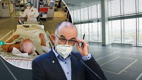 Ministr zdravotnictví Jan Blatný (za ANO) mluvil o pacientech v tělocvičnách. To ale nepovolují zákony. Vláda jedná o umístění nakažených v lázních