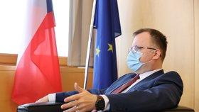 Předseda Českého statistického úřadu Marek Rojíček během rozhovoru pro Blesk (11. 2. 2021).