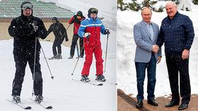 Putin v Soči přivítal Lukašenka. Po jednáních o dalším úvěru spolu vyrazili lyžovat
