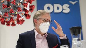 Předseda ODS Petr Fiala při rozhovoru pro Blesk