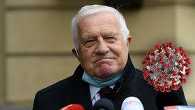 Exprezident Václav Klaus chytil covid.