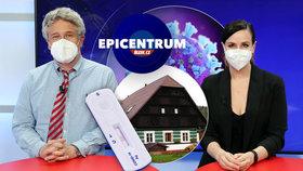 Epidemiolog Petr Smejkal v Epicentru s moderátorkou Pavlínou Horákovou 18.3.2021