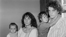 Getty se svou manželkou Martine, dceru Annou a synem Balthazarem