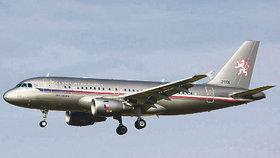 Vládní airbus, který používají i čeští politici.