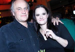 Natálie Kocábová se svým otcem Michaelem Kocábem