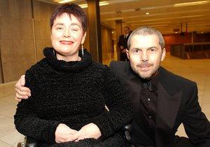 Marek Eben s manželkou Markétou Fišerovou