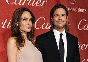 Angelina Jolie a Brad Pitt byli hlavními hvězdami večera.