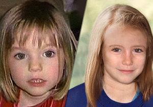 Maddie údajně viděli v Paraguayi. Vlevo, jak vypadala při zmizení v roce 2003, vpravo jedna z pozdějších podobizen.