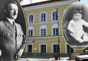 Adolf Hitler se narodil v tomto domě v rakouském Braunau.