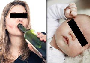Pod obraz opilí rodiče slavili šestinedělí: Polonahé miminko otec vyklopil z kočárku. (Ilustrační foto)