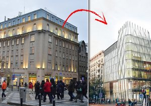 Dům na Václavském náměstí může jít k zemi. Ministryně Hanáková mu odepřela památkovou ochranu. Místo něj vyroste Květinový dům.