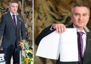 Zemanův kancléř Mynář se pochlubil tím, že zažádal o bezpečnostní prověrku na stupni přísně tajné.