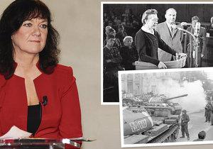 Poslankyně KSČM Marta Semelová hodnotila v TV proces s Miladou Horákovou, či okupaci sovětskými tanky
