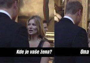 Kate Moss nepokrytě flirtovala s princem Williamem
