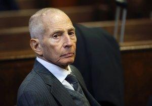 Americký boháč Robert Durst (71) byl zatčen v souvislosti s 15 let starou vraždou