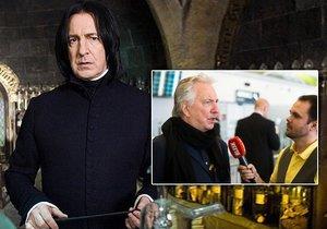 Herec Alan Rickman, hvězda Harryho Pottera, je v Praze. Blesk.cz s ním exkluzivně mluvil