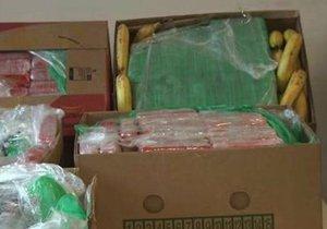 Policisté našli drogy mezi banány