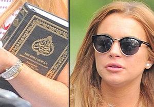 Lindsay Lohan s Koránem v ruce