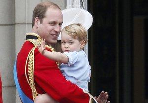 Princ William se synem Georgem