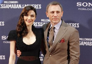 Rachel Weiszová s manželem Danielem Craigem