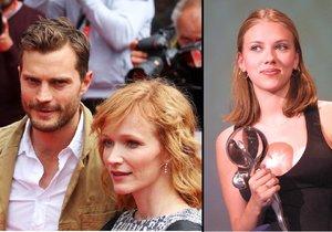 Hvězdy, které navštívily karlovarský filmový festival - Scarlett Johansson a Jamie Dornan.