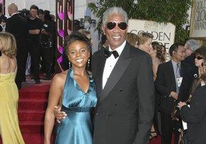 Morgan s E'Denou před lety na předávání Zlatých glóbů.
