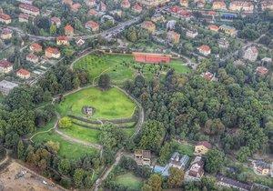 Letecký pohled na Hanspaulku