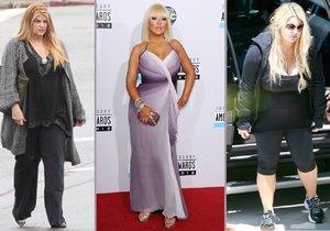 I slavné ženy mají často problémy s váhou.