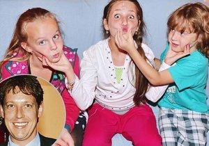 Dcera Stanislava Grosse se bavila s ostatními dětmi na repríze Mýdlového prince.