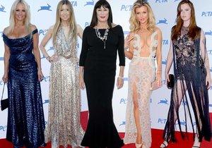 Celebrity se ukázaly na rudém koberci u výročí organizace PETA.