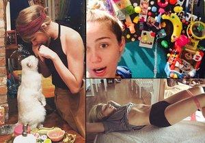 Často si ale neuvědomují, že když podobné fotky zveřejní na internetu, ukážou svým fanouškům i část svých obydlí. Do svých příbytků nás prostřednictvím fotek na sociální síti pozvaly například americké zpěvačky Taylor Swift, Miley Cyrus a Lady Gaga.