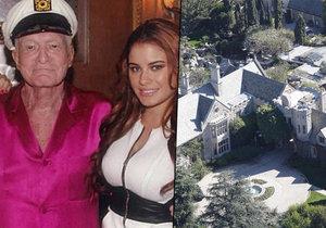 Sídlo Hugha Hefnera už není dům neřesti. Vydavatel Playboye se teď obklopuje ošetřovatelkami.