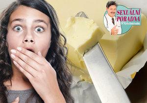 Dr. Karel Obdařený tentokrát vysvětluje, že máslo jako náhražka lubrikantu není nejvhodnější.