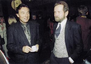 Karel Gott se svým klavíristou a dobrým přítelem Rudolfem Roklem