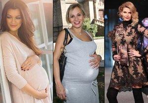 Slavné těhulky: Podívejte se, jak to sluší slavným kráskám v těhotenství.