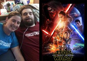 Daniel trpěl rakovinou a měl před sebou měsíc života. Jeho posledním přáním bylo vidět nejnovější díl Star Wars.