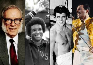 AIDS se objevuje i mezi slavnými osobnostmi.