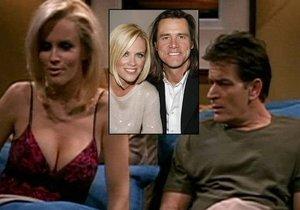 Bývalka Jima Carreyho natočila s Charlie Sheenem postelové scény. Teď zuří, že jí neřekl, že je HIV pozitivní.