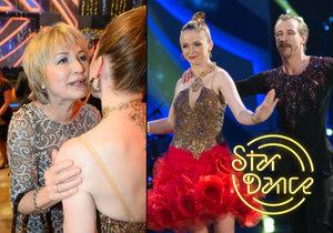 Maruška Doležalová měla v hledišti ve StarDance velkou oporu! Podpořit ji přišla šéfová z Divadla Na Fidlovačce Eliška Balzerová.