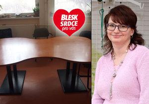 Ředitelka ALKY: Díky projektu 2 speciální stoly!