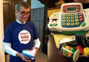 Vicepremiér Andrej Babiš přišel v pátek do sněmovny připraven na souboj o elektronickou evidenci tržeb.