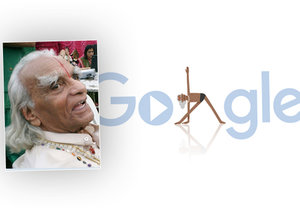 B. K. S. Iyengar, zakladatel moderní jógy, by oslavil 97 let.
