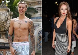 Justin Bieber si dal sex ve třech s britskou modelkou.