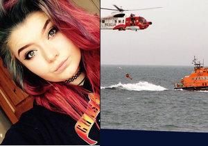 Dívku z vody zachraňovali vrtulníkem, ale utrhlo se s ní lano. Pád z dvanáctimetrové výšky nepřežila.