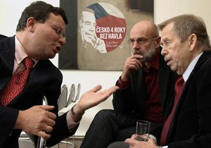 Alexandr Vondra, Jan Ruml a Václav Havel na poradě v roce 2007
