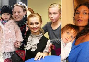 Štědrý den jen s dětmi a bez bývalých partnerů prožijí například Tereza Vojtková, Ivana Jirešová či Kristina Kloubková.